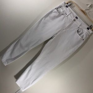 Gap curvy true skinny white denim jeans